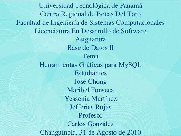Universidad Tecnológica de PanamáCentro Regional de Bocas Del ToroFacultad de Ingeniería de Sistemas ComputacionalesLicenc...