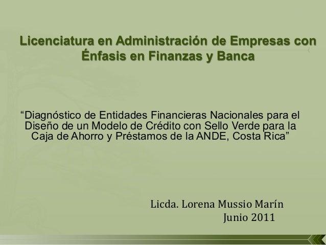 """""""DIAGNÓSTICO DE ENTIDADES FINANCIERAS NACIONALES PARA EL ... - photo#21"""