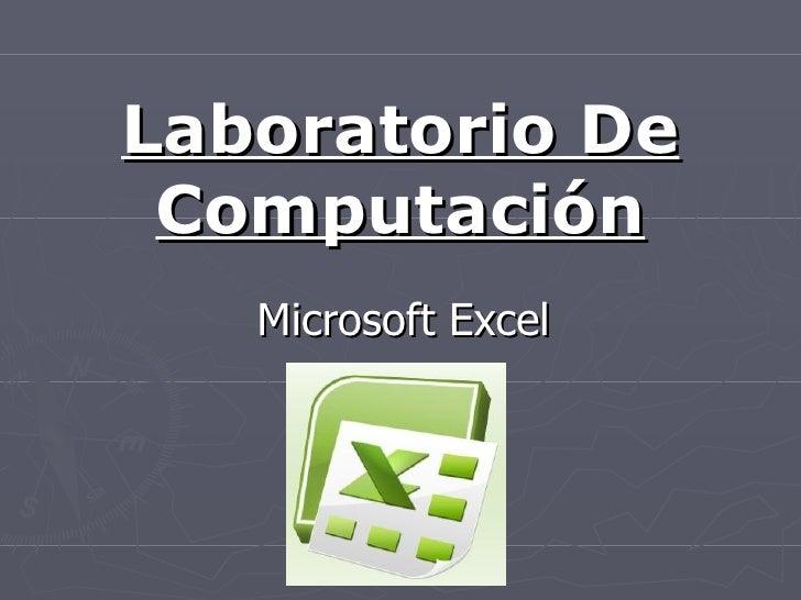 Laboratorio De Computación Microsoft Excel