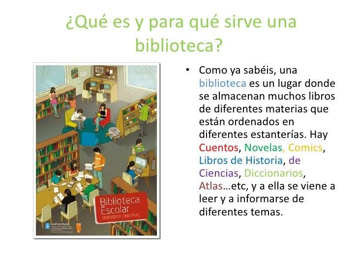 Para que sirve una biblioteca for Para que sirve la ergonomia