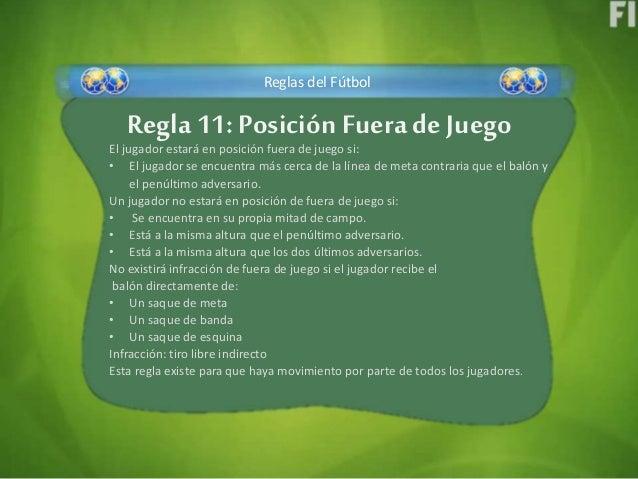 F tbol y sus variaciones reglamento fifa regla 8 9 11 y 12 for Regla del fuera de lugar