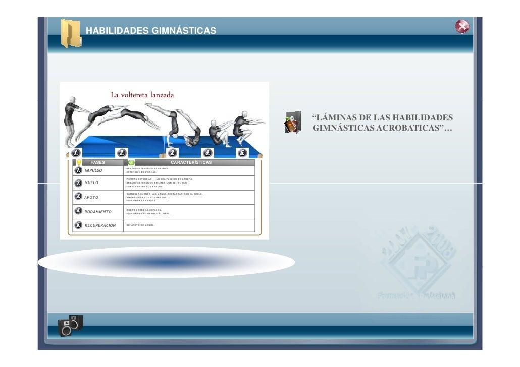 """HABILIDADES GIMNÁSTICAS          La voltereta lanzada                                                                    """"..."""