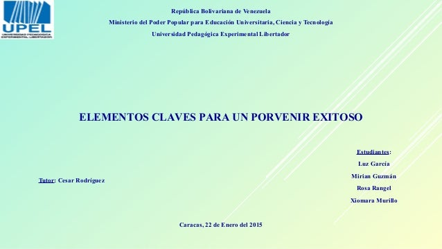 República Bolivariana de Venezuela Ministerio del Poder Popular para Educación Universitaria, Ciencia y Tecnología Univers...