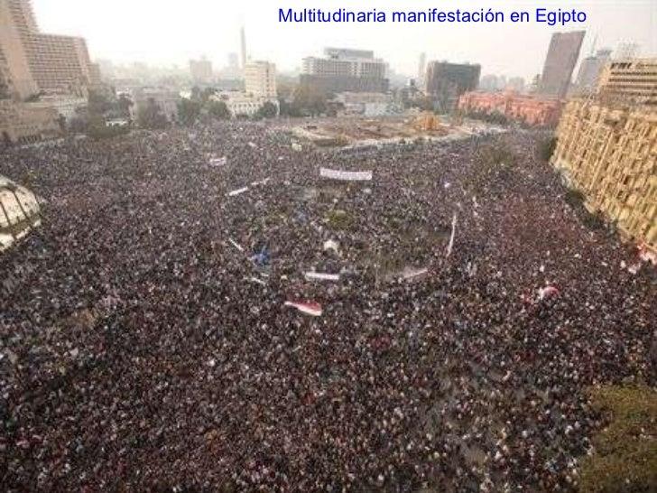 Multitudinaria manifestación en Egipto