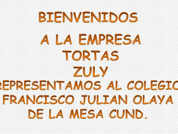 • Nuestra empresa es productora y  comercializadora de tortas 100%  naturales nos localizamos en la Mesa  Cundinamarca en ...