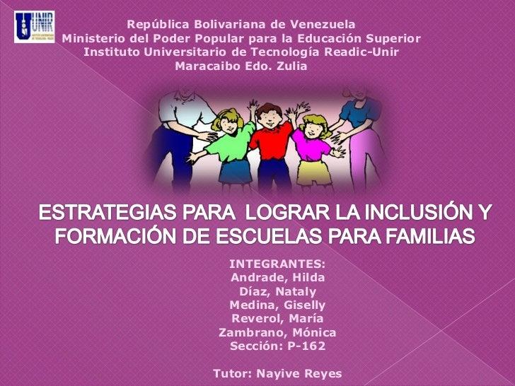 República Bolivariana de VenezuelaMinisterio del Poder Popular para la Educación Superior   Instituto Universitario de Tec...