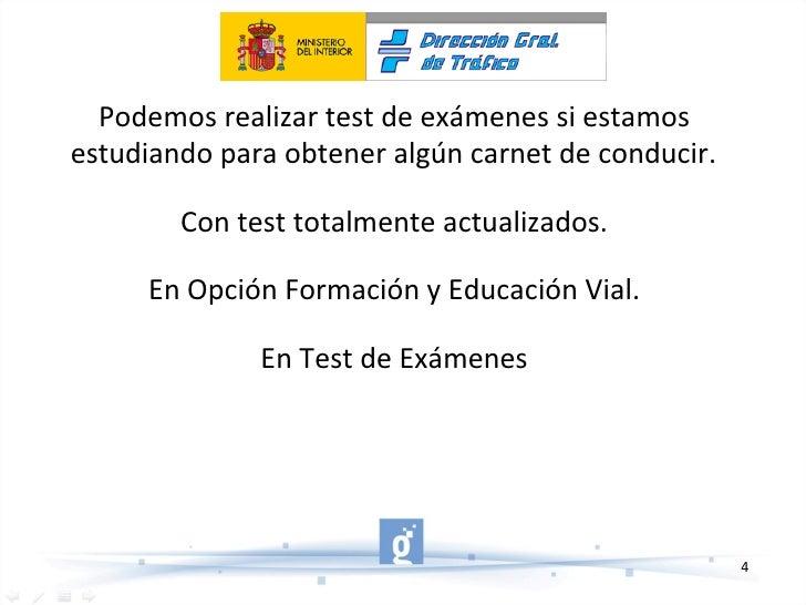 Podemos realizar test de exámenes si estamos estudiando para obtener algún carnet de conducir. Con test totalmente actuali...