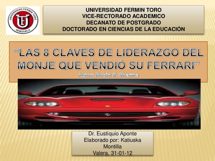 UNIVERSIDAD FERMIN TORO     VICE-RECTORADO ACADEMICO      DECANATO DE POSTGRADODOCTORADO EN CIENCIAS DE LA EDUCACIÓN      ...