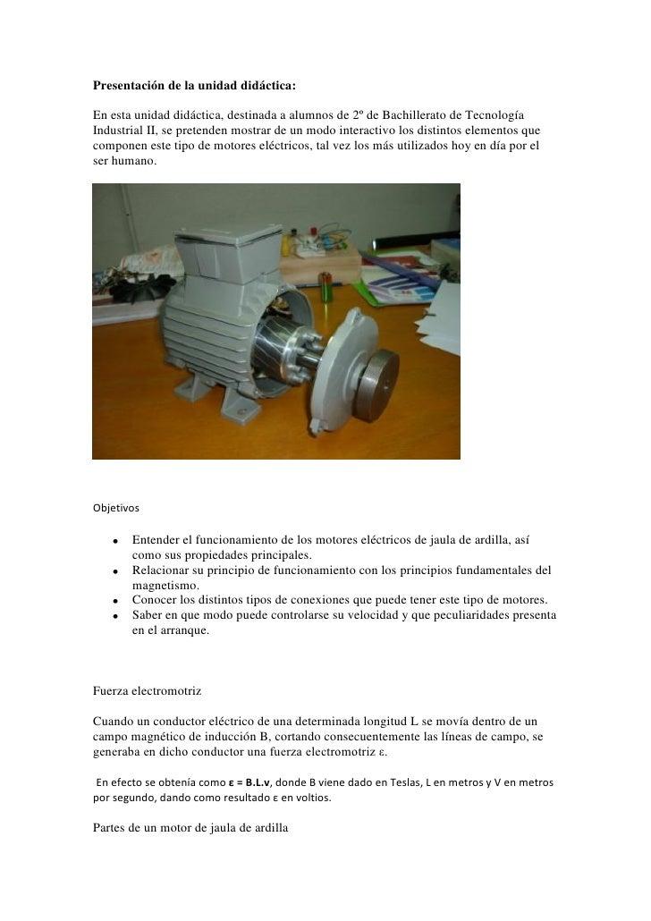Presentación de la unidad didáctica:En esta unidad didáctica, destinada a alumnos de 2º de Bachillerato de TecnologíaIndus...