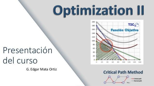 Presentación del curso G. Edgar Mata Ortiz