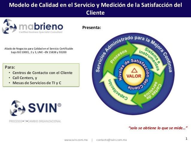 Modelo de Calidad en el Servicio y Medición de la Satisfacción del                               Cliente                  ...
