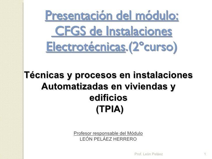 Presentación del módulo del tpia cfgs