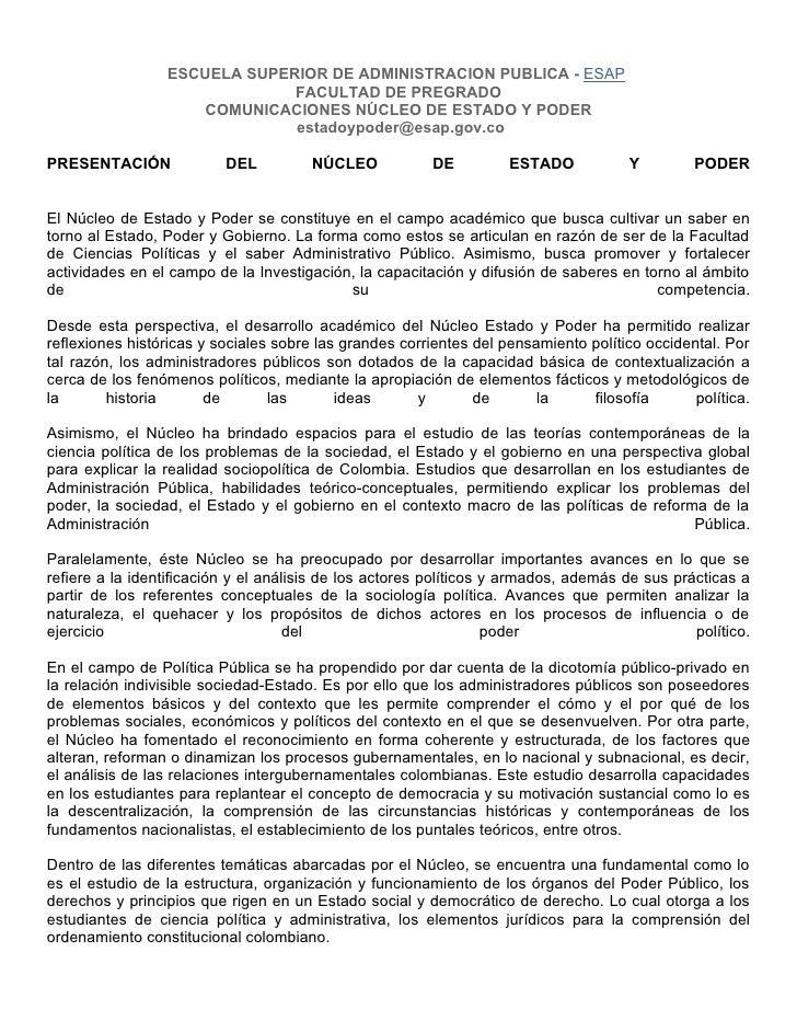 ESCUELA SUPERIOR DE ADMINISTRACION PUBLICA - ESAP                              FACULTAD DE PREGRADO                     CO...
