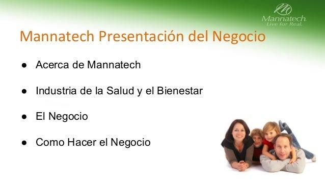 Presentación del Negocio de Mannatech slideshare - 웹