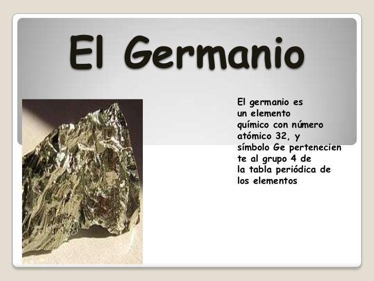 Presentacin de los minerales en power point 2 el germanio el germanio es un elemento qumico urtaz Gallery