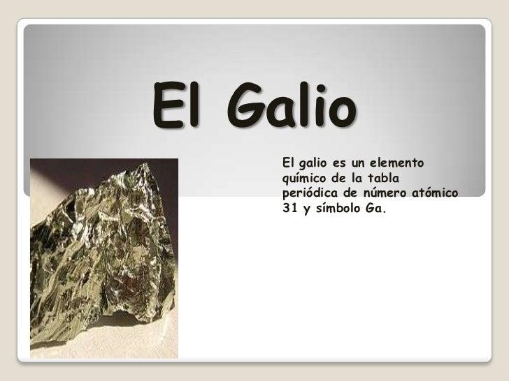 Presentacin de los minerales en power point tabla peridica de los elementos 3 el galio urtaz Choice Image