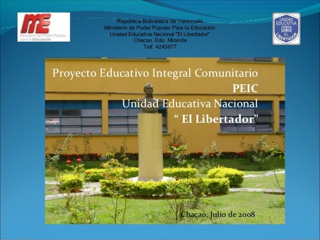 República Bolivariana de Venezuela         Ministerio de Poder Popular Para la Educación           Unidad Educativa Nacion...