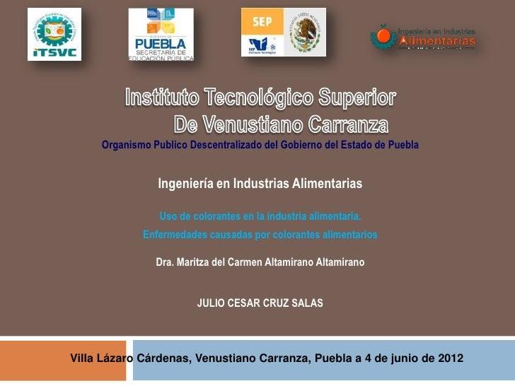 Organismo Publico Descentralizado del Gobierno del Estado de Puebla                Ingeniería en Industrias Alimentarias  ...