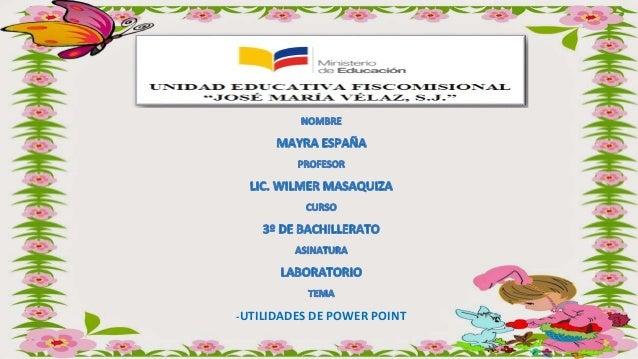 -UTILIDADES DE POWER POINT