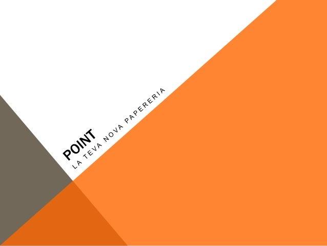 NOM DE LA EMPRESA El nom de la nostra empresa està basat en el nostre logotip, que esta construit per 4 grans punts , que ...
