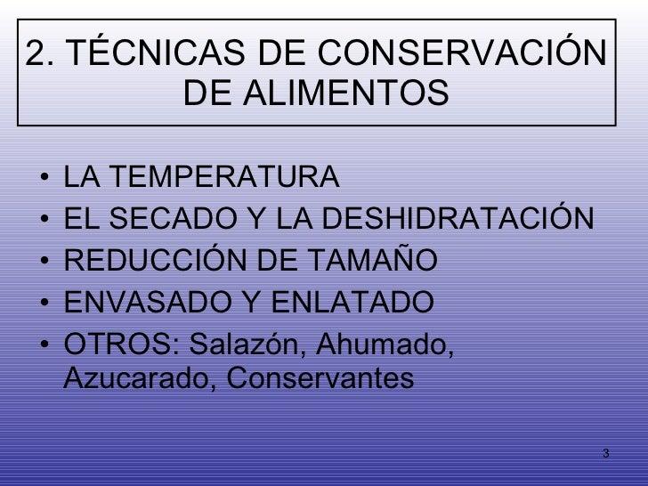 Metodos De Conservacion De Alimentos