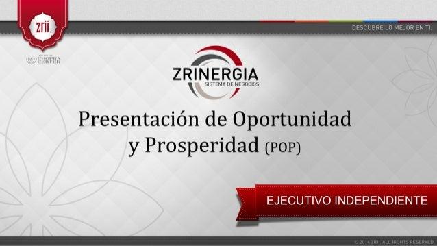 DESCUBRE LO MEJOR EN TI.   r num< r- ox |  un I:   ¡'R  Z R'   /   Presentación de Oportunidad y Prosperidad (POP)  EJECUT...