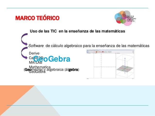 MARCO TEÓRICO Uso de las TIC en la enseñanza de las matemáticas Software de cálculo algebraico para la enseñanza de las ma...
