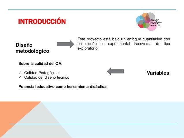 INTRODUCCIÓN Diseño metodológico Variables Este proyecto está bajo un enfoque cuantitativo con un diseño no experimental t...