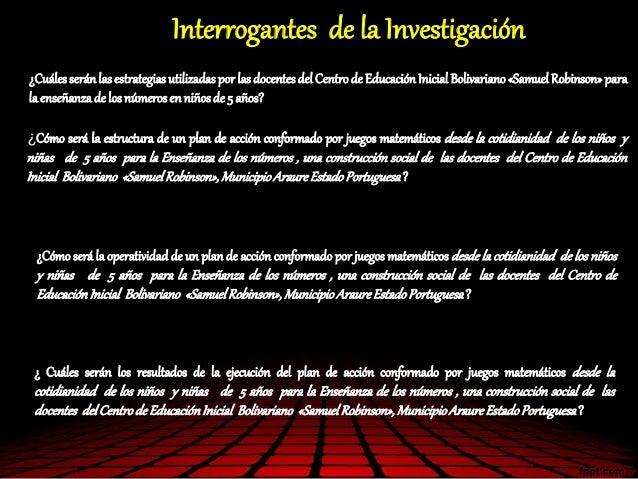 ¿Cuálesseránlas estrategiasutilizadas por las docentesdel Centrode Educación Inicial Bolivariano«Samuel Robinson»para la e...