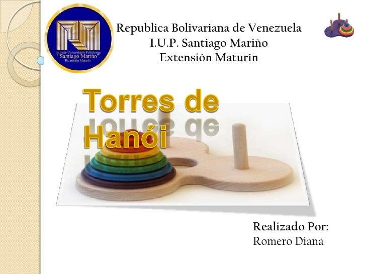 Republica Bolivariana de Venezuela     I.U.P. Santiago Mariño       Extensión Maturín                         Realizado Po...