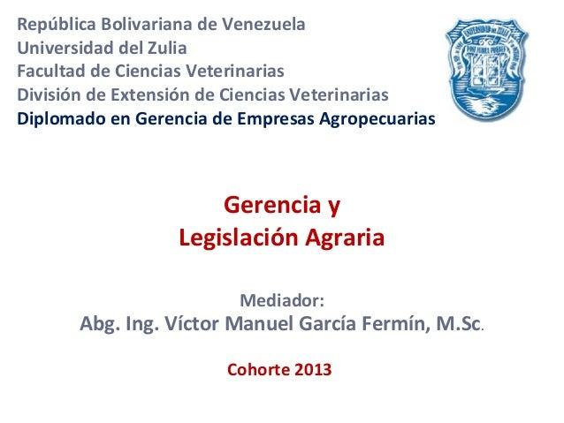 República Bolivariana de VenezuelaUniversidad del ZuliaFacultad de Ciencias VeterinariasDivisión de Extensión de Ciencias ...
