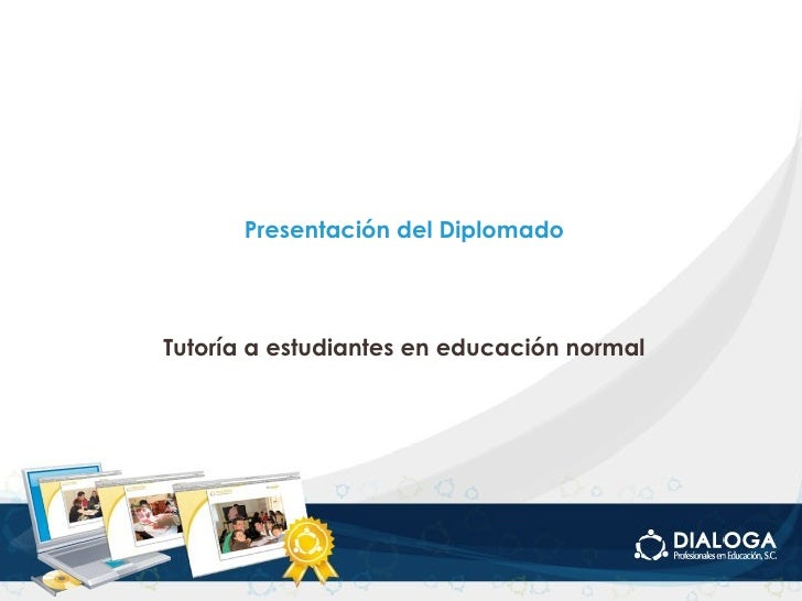 Presentación diplomado tutoria