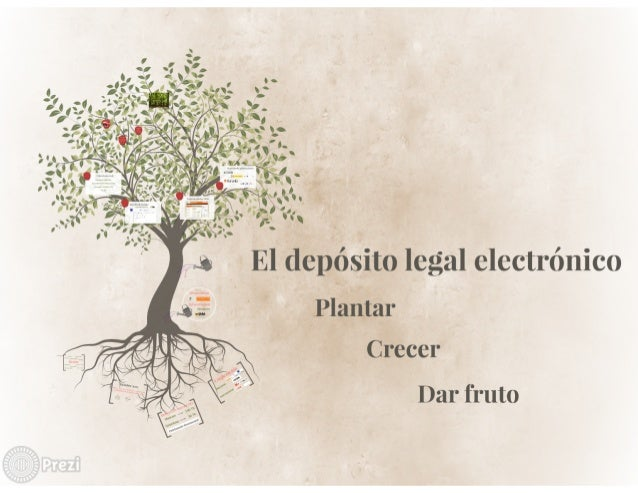 El depósito legal electrónico. Plantar, crecer, dar fruto. Mar Pérez Morillo.