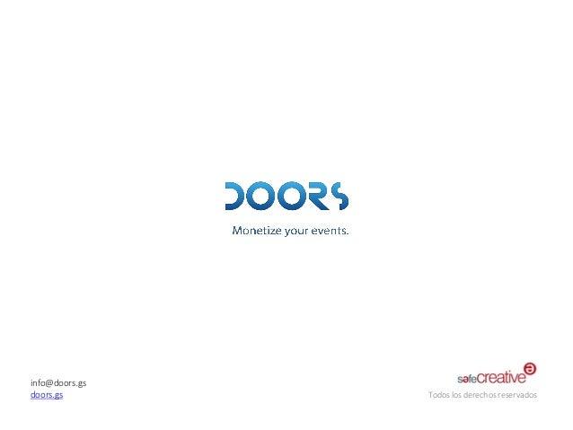 info@doors.gs  doors.gs  Todos los derechos reservados