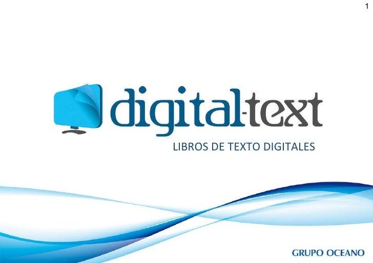 LIBROS DE TEXTO DIGITALES 1