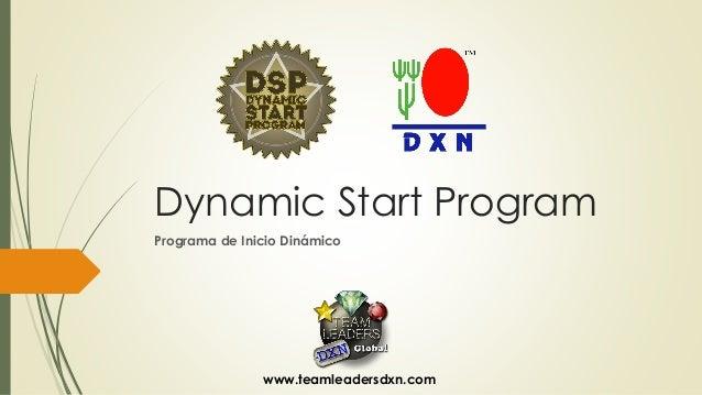 DynamicStartProgram  Programa de Inicio Dinámico  www.teamleadersdxn.com