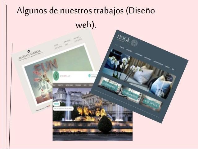 Algunos denuestros trabajos(Diseño web).