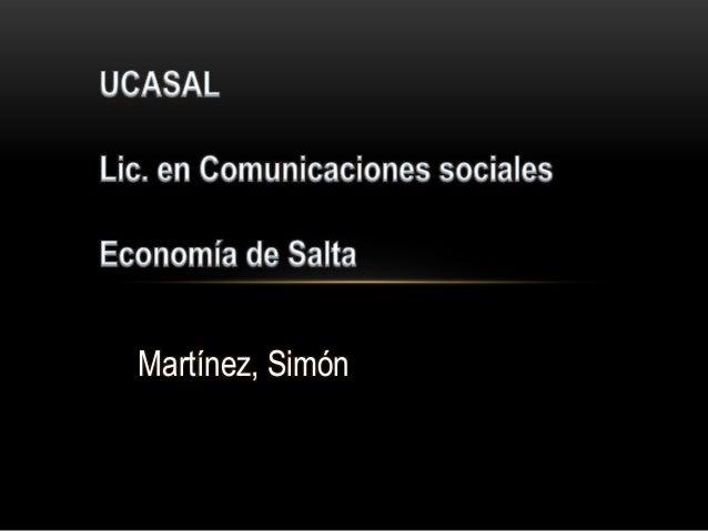 Martínez, Simón