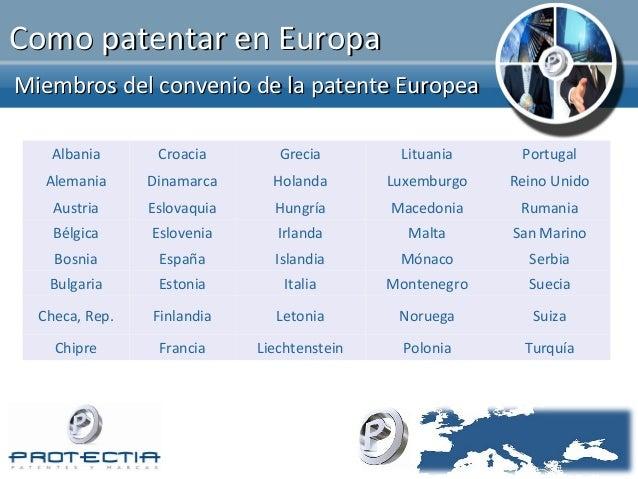 Patentes y marcas en europa - Oficina europea de patentes y marcas alicante ...