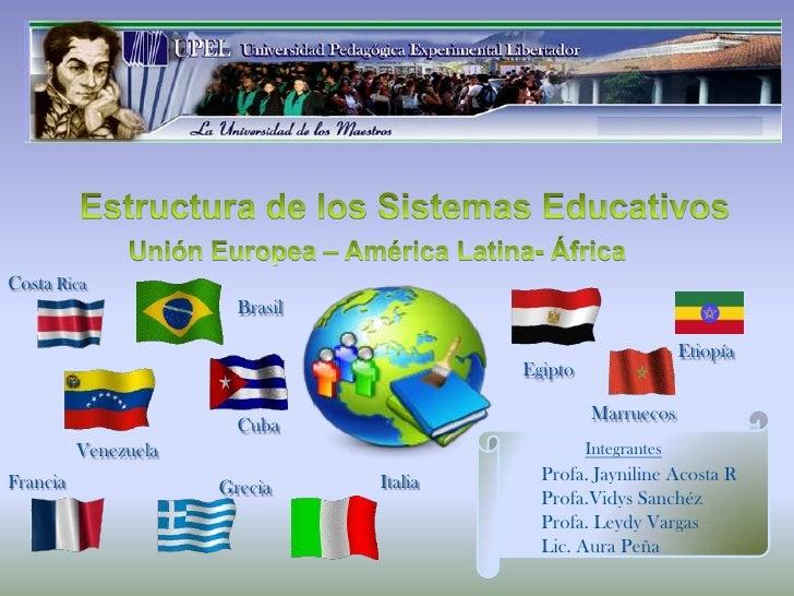Estructura de los Sistemas Educativos<br />Unión Europea – América Latina- África<br />Costa Rica<br />Brasil<br />Etiopía...
