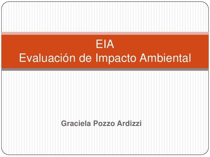 EIA Evaluación de Impacto Ambiental            Graciela Pozzo Ardizzi