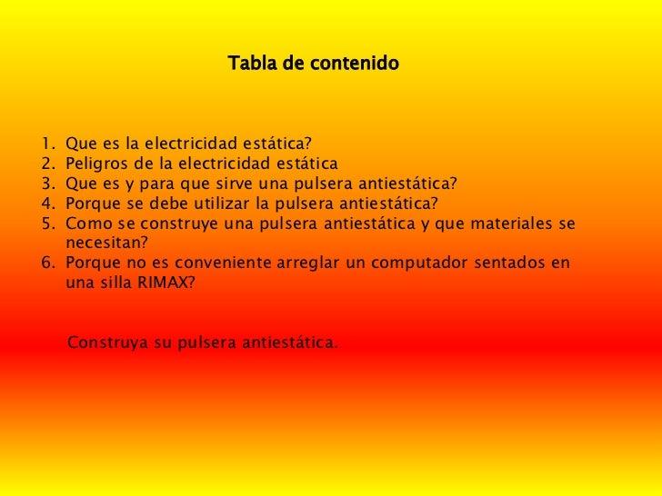 Presentaci n electricidad estatica for Como evitar la electricidad estatica
