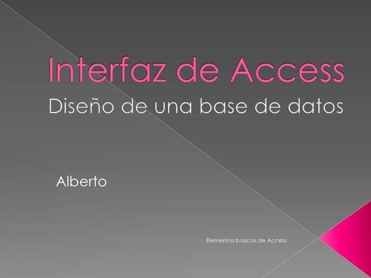 Alberto          Elementos basicos de Access