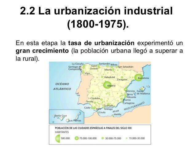 Se distinguen cuatro etapas. Entre 1800 y 1850 la concentración de la población en las ciudades sólo se vio favorecida por...