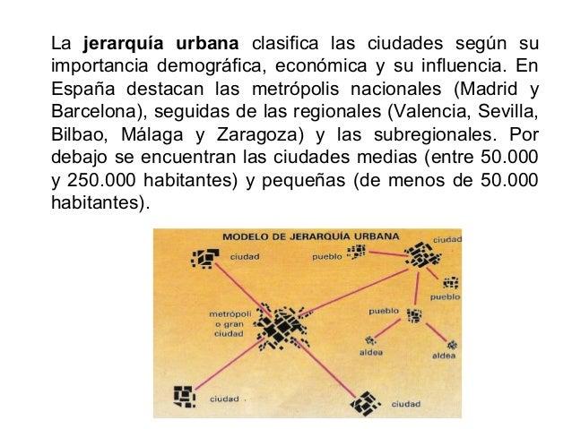 Dentro de la Unión Europea, las ciudades españolas ocupan una posición periférica respecto al eje urbano central (Gran Dor...