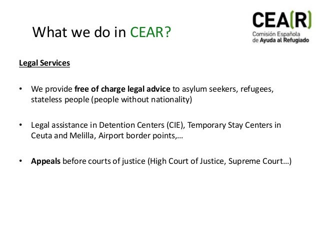 CEAR: Right of Asylum and Refugees in Spain Slide 3