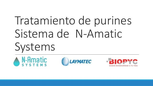 Tratamiento de purines Sistema de N-Amatic Systems
