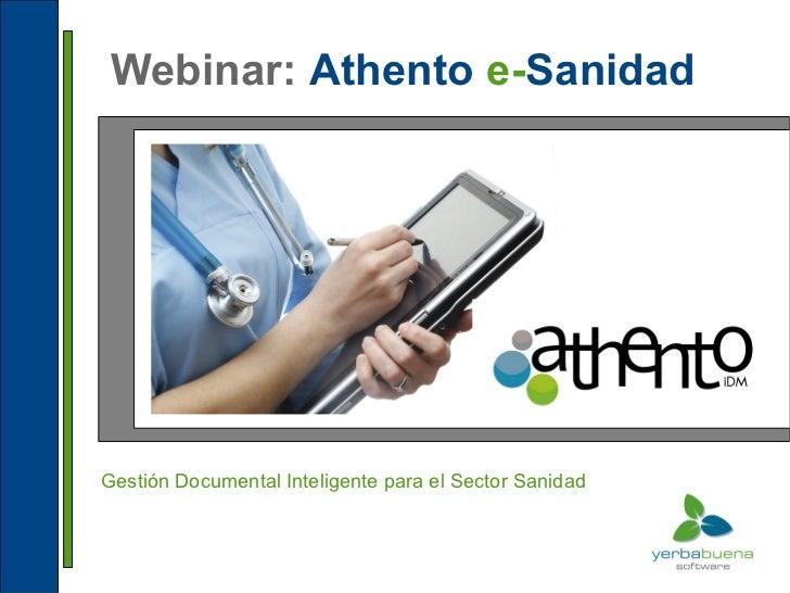Webinar: Athento e-SanidadGestión Documental Inteligente para el Sector Sanidad