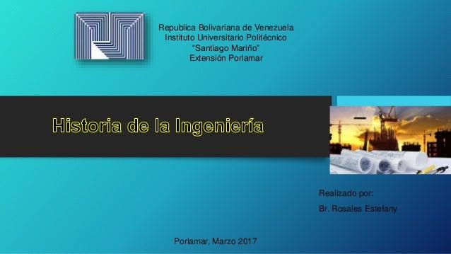 """Republica Bolivariana de Venezuela Instituto Universitario Politécnico """"Santiago Mariño"""" Extensión Porlamar Realizado por:..."""