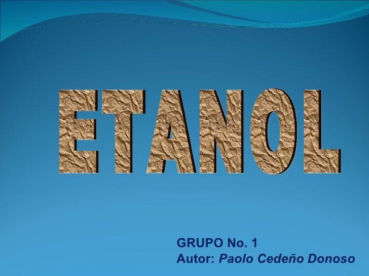 GRUPO No. 1 Autor: Paolo Cedeño Donoso